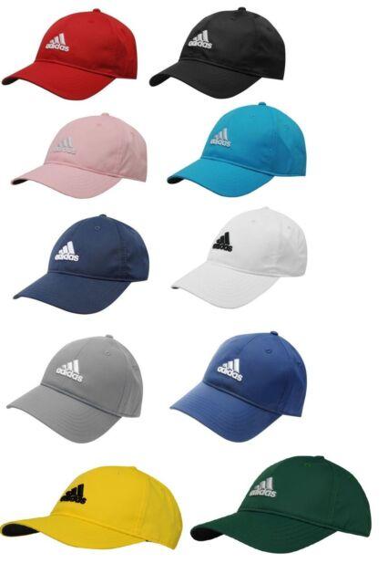 091817882 Adidas Mens Sports Peak Cap Baseball Hat 3 Stripes Adjustable Running Golf