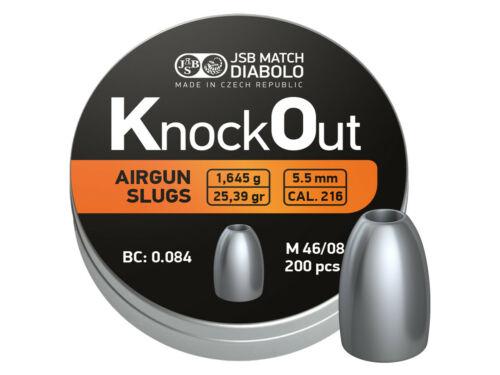 """0.216/"""" Hollowpoint 25.39gr 200ct JSB Knockout Slugs"""