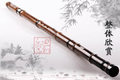 Nice Carved Purple Bamboo Flute Xiao Instrument Chinese Shakuhachi