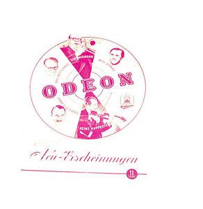 Auf Dem Internationalen Markt Hohes Ansehen GenießEn k150 Odeon Neuerscheinung Katalog November