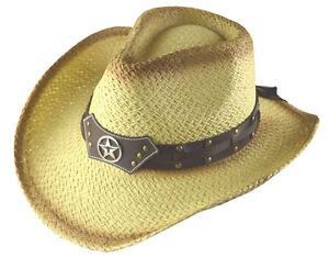 Caricamento dell immagine in corso 100-Paglia-Cappello-da-Cowboy-024 e58f3a86aa78