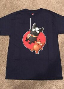NWOT-Heavy-Hanes-Unisex-Dangling-Frenchies-Black-T-shirt-Size-Small-amp-FACE-MASK