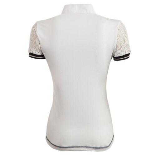 XXS-XL BR Damen Turniershirt Padova kurzarm Stretch Stehkragen Spitzenärmel Gr