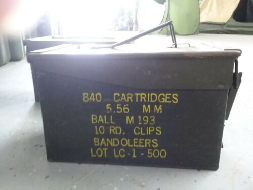 US Military 50 CAL M2A1 Ammo Can LOT OF 6 Airtight Steel 12x6.5x7.5 FREE SHIP
