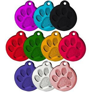 ROUND-PAW-ALLOY-DOG-ID-NAME-TAG-DISC-PERSONALISED-ENGRAVED-PET-IDENTITY-TAGS