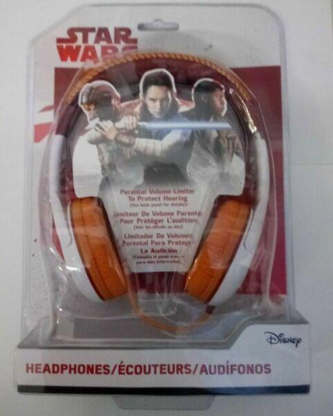 Star Wars Astromech BB-8 Droid Headphones w//Parental Volume Limiter NIP J