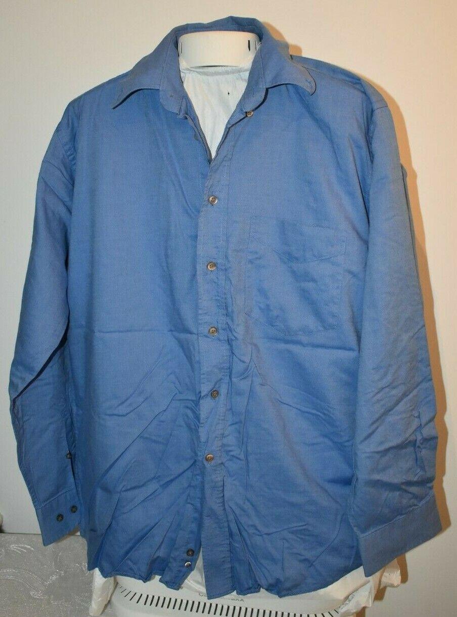 - Mc Earl Original Oxford Herrenhemd - Gr. 41/42 - dunkelblau - Hemd Shirt
