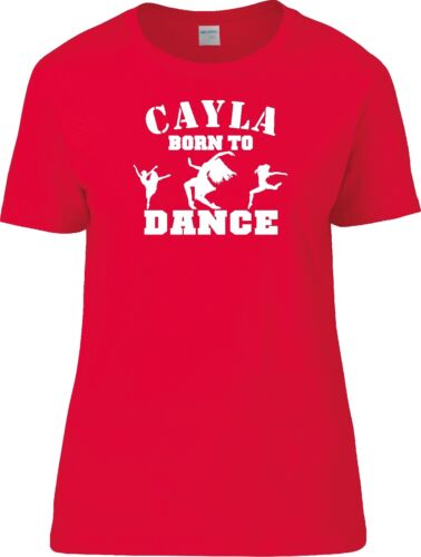 Personnalisé Femmes Danse Paillettes Bling Born to dance T Shirt