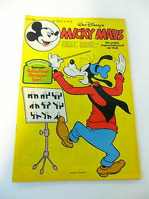 1x Comic - Micky Maus - Inkl. Beilage - Jahrgang 1979 - Nr. 34) RegelmäßIges TeegeträNk Verbessert Ihre Gesundheit