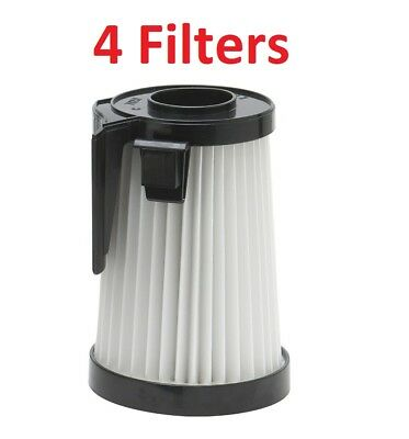 (4) Filter For Eureka Dcf-10, Dcf-14, 62396 Hepa Vacuum Washable