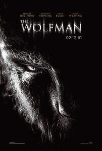 THE-WOLFMAN-ORIGINAL-27x40-MOVIE-POSTER-2010-DEL-TORO-HOPKINS