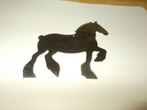 DRAFT HORSE SILVER POLISHED ZINC CHRISTMAS ORNAMENT