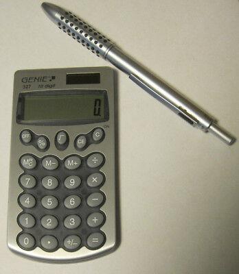 Taschenrechner  mit Dreifarbkugelschreiber Metall und Druckbleistift 0,5mm