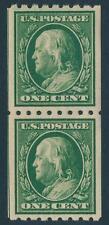 U.S. Scott #390 (Coil Pair) Extra Fine (Mint Never Hinged) SCV:$22.00