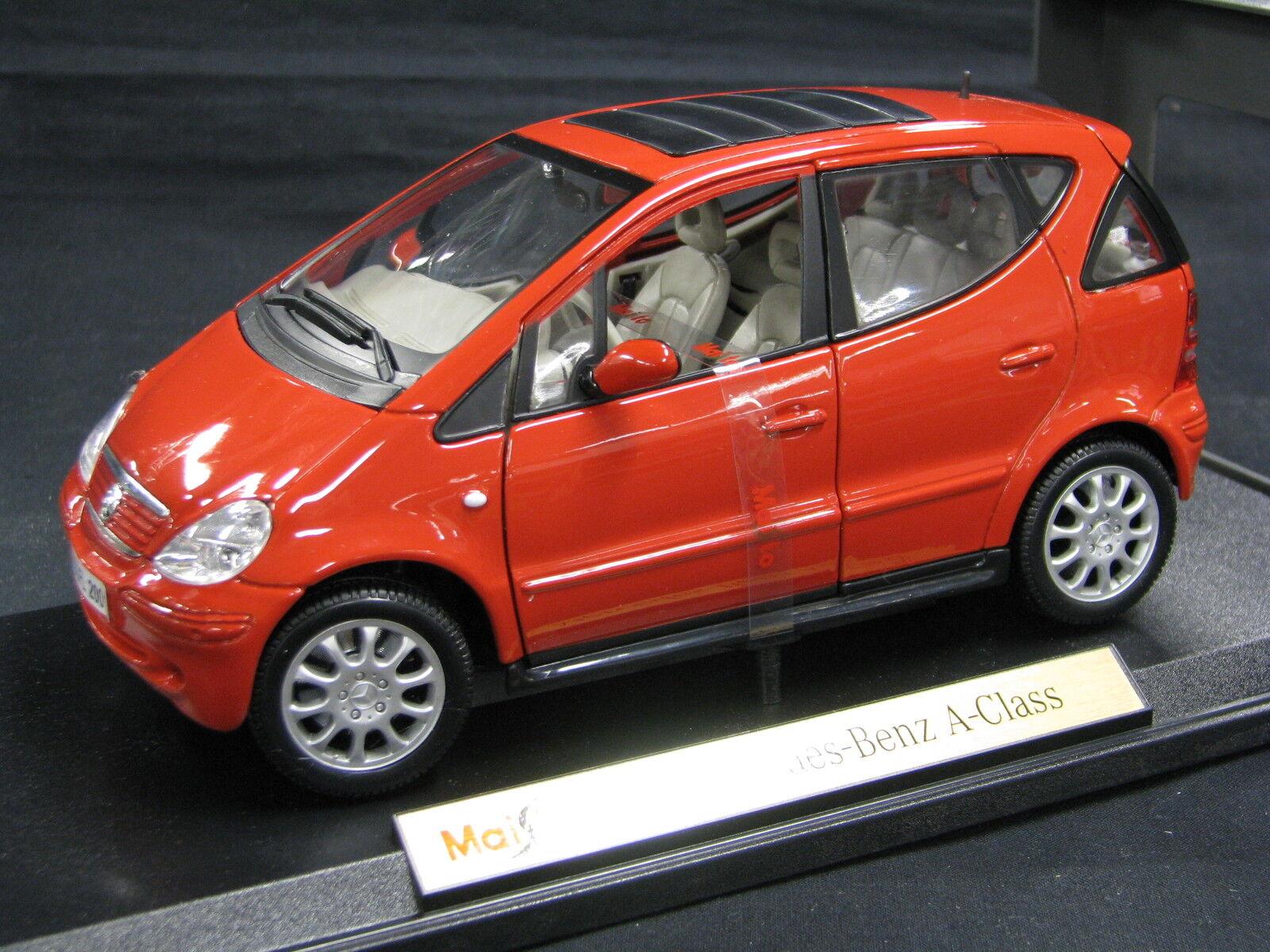 calidad fantástica Maisto Mercedes-Benz Mercedes-Benz Mercedes-Benz A-Class 2001 1 18 rojo (JS)  nueva gama alta exclusiva