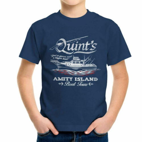Quints Amity Island Boat Tours Jaws Kid/'s T-Shirt