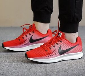 8235a52b8092 NIKE AIR ZOOM PEGASUS 34 RED BLACK 880555 602 MEN S RUNNING SHOES ...
