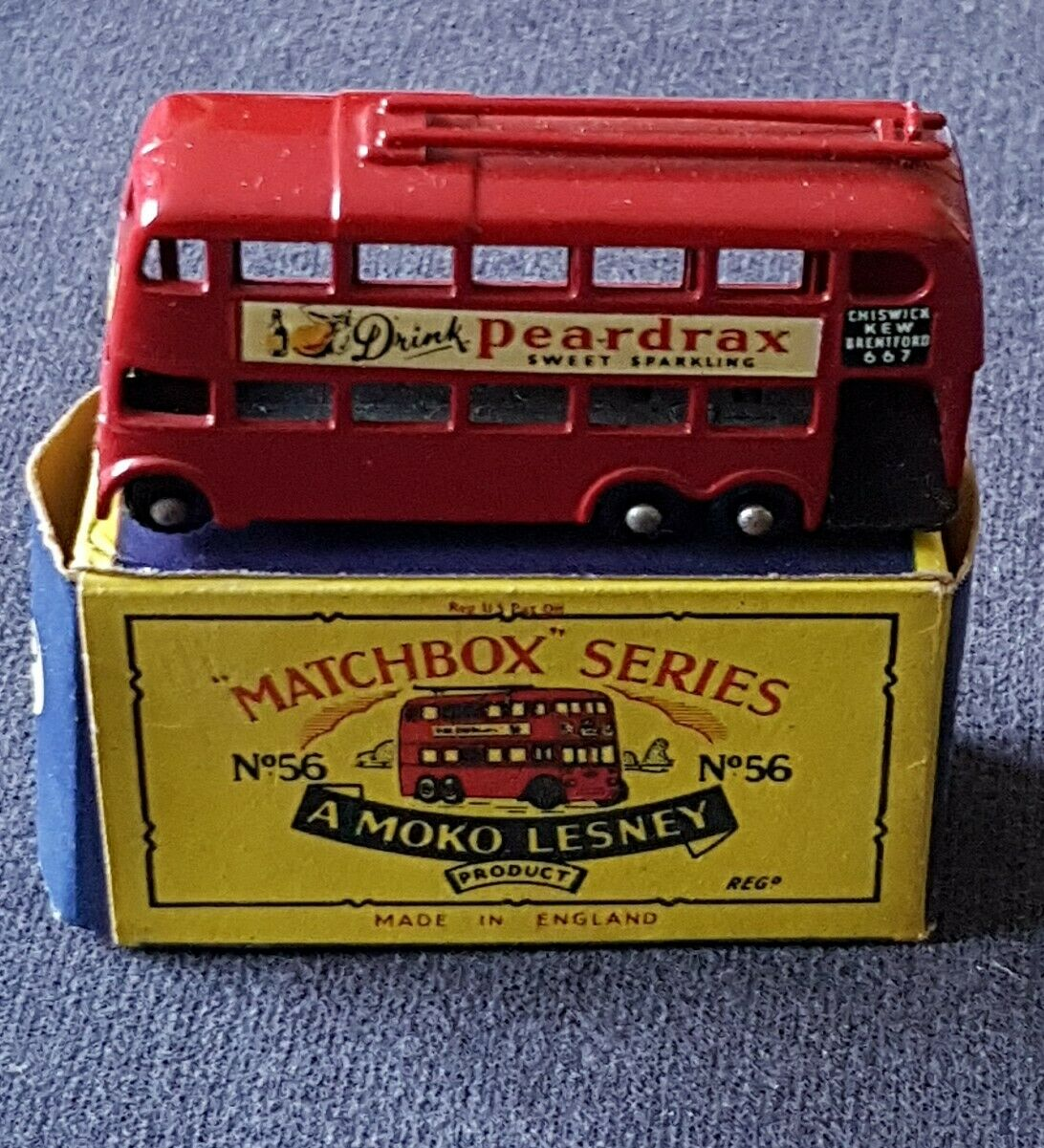 Vintage Lesney Matchbox no 56 Trolley Bus Boxed   (4)