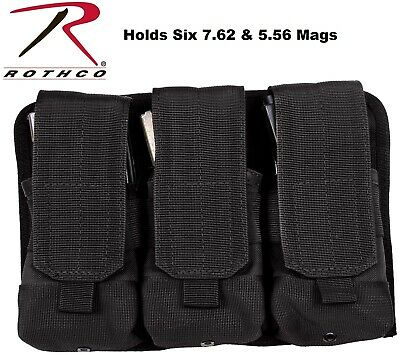 7.62 /& 5.56 Universal Triple Mag Rifle Pouch MOLLE Magazine Pouch 5093 Rothco