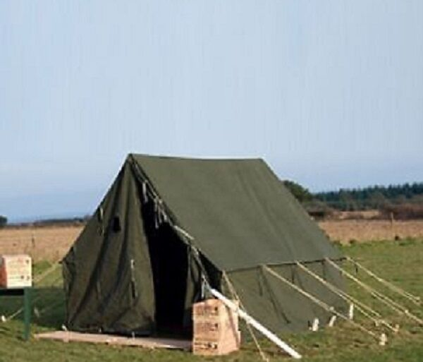 US ARMEEZELT Outdoor Camping Army Canvas Segeltuch Zelt TENT OLIV