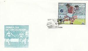 (14346) Clairance Nicaragua Fdc Football 14 Avril 1998-afficher Le Titre D'origine