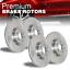 Front /& Rear Disc Brake Rotors 4 PCS For 2003-2004 for G35 Brembo Brakes