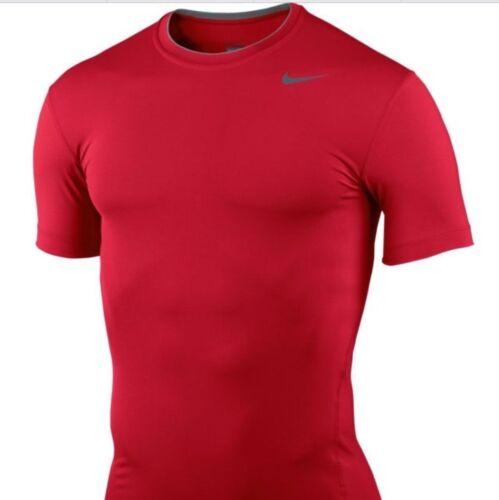 Red Nike Pro Core Workout Shirt Top Men/'s Size M