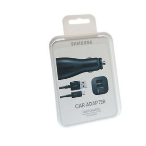 Original-Samsung-Galaxy-S8-Plus-KFZ-Auto-Schnell-2A-Ladegeraet-Type-C-DUAL-PORT
