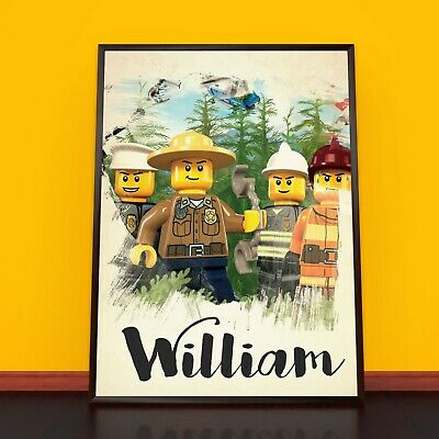 LEGO CITY Personalised Poster A4 Print Wall Art Banner Any Name Fast Delivery
