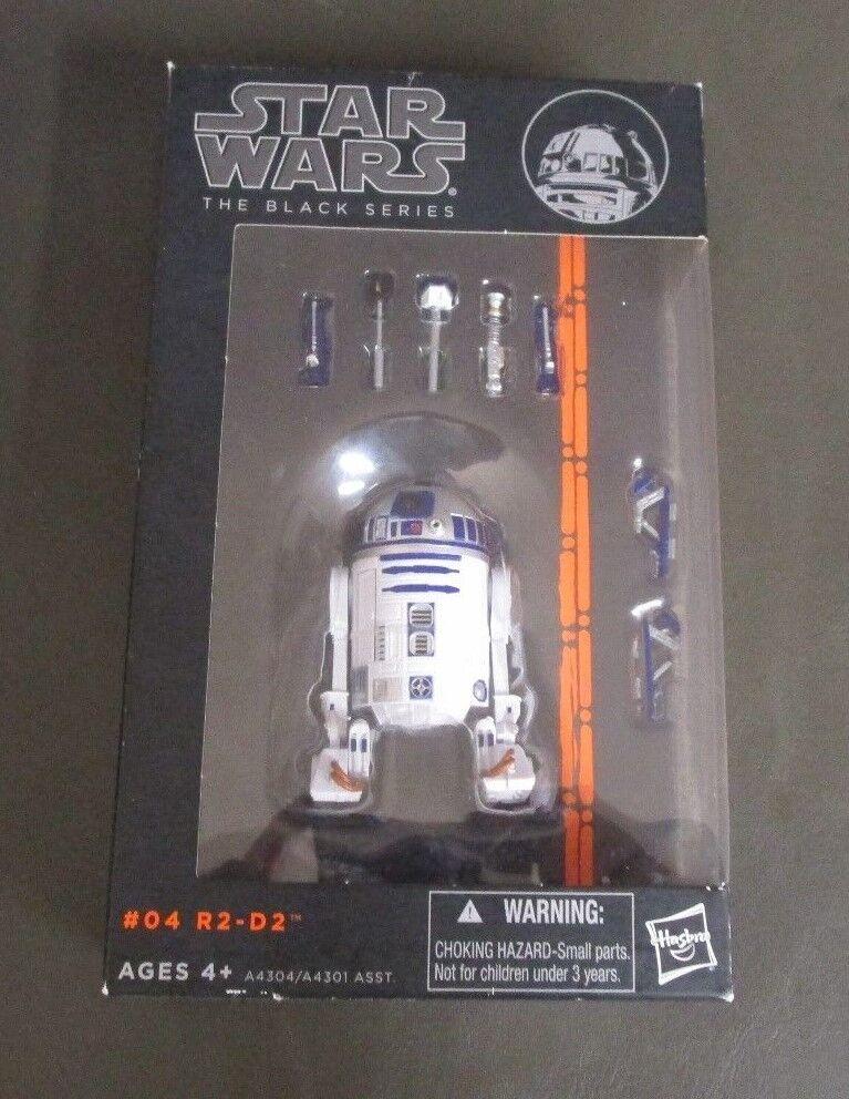 soporte minorista mayorista R2-D2 Estrella Wars Wars Wars Droid  04 4 2013 Negro Naranja serie MIB 6  escala  2  marca