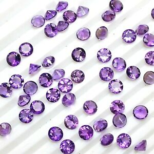 Wholesale-Lot-4mm-Round-Facet-Natural-African-Amethyst-Loose-Calibrated-Gemstone
