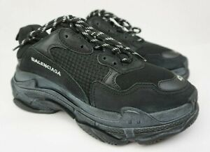 f5d76b84e8f9 Image is loading Balenciaga-Triple-S-Sneakers-Men-039-s-Black-