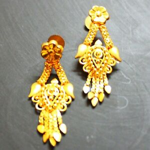 Earrings Bridal Gold Plated Ethnic