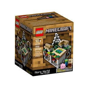 CLEARANCE-LEGO-Minecraft-Micro-World-The-Village-21105-BNIB-Rare-2013-Release