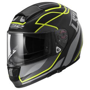 LS2-FF397-FT2-Vector-Vantage-Jaune-Fibre-De-Verre-casque-moto-integral