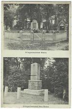 Kriegerdenkmal, Brenz bei Neustadt-Glewe, Landpoststempel Brenz über Ludwigslust