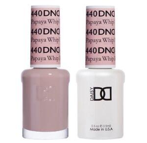 DND-Daisy-Duo-Gel-W-matching-nail-polish-lacquer-PAPAYA-WHIP-440
