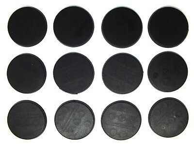 100% Wahr Plastic Bases - 30mm Round Blank Bases (12) - 99.010 Weniger Teuer