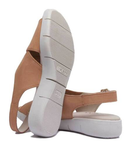 Women 3 Cross Strap Leather 8 Nubuck The Flexx Sandals Cognac Uk Rowbot Size PnxqnEZp