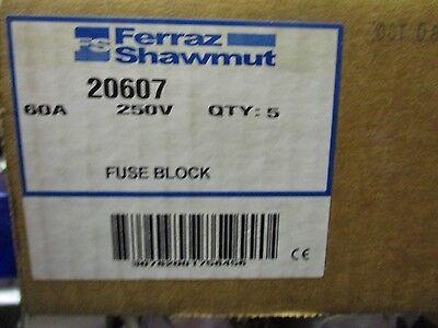 shawmut 20607 box of 5 60 amp 250 volt fuse block new. Black Bedroom Furniture Sets. Home Design Ideas