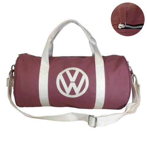Volkswagen Premium Canvas Holdall Bag 3 Colours Available Red Navy Brown VW