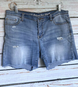 Size-10-VICTORIAS-SECRET-Relaxed-Boy-Fit-Cut-off-Jean-Shorts