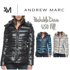 bc5c8df4e23 NEW Andrew Marc Women's Packable Premium Down Jacket - 650 Fill ...