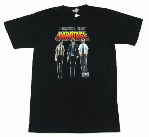 Beastie Boys Sabotage Video Band Image Black T Shirt New Official