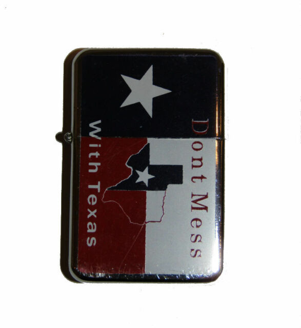 Don't Mess With Texas Map Flag Flip Lighter
