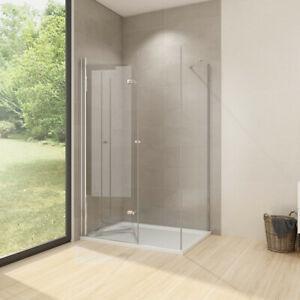 Details zu Duschkabine Eckdusche Falttür mit Seitenwand Dusche ESG Glas  Duschwand Duschtür