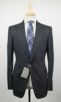 New. Tom Ford Gray Check Wool 2 Button Suit Size 48/38 R Base V $4590