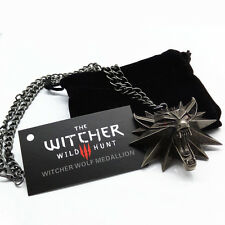 The Witcher pendant medallion wizard wolf wild hunt 3 Figure Game Alloy necklace