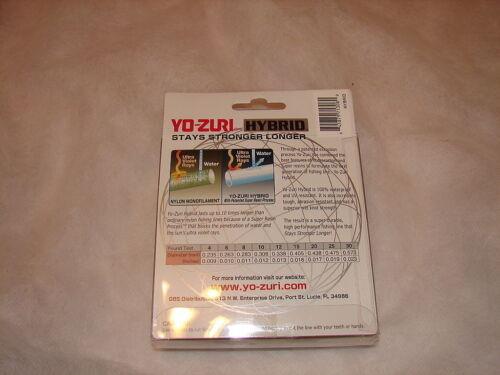 Lot 5 Yo-Zuri Fluorocarbon Fishing Line Leader 10lb 275 Yards Spool 10 lb YoZuri