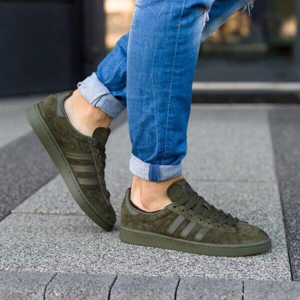 Adidas Originals Campus Night Cargo Olive Dark Green Suede BZ0078 Uomo 12 Shoes